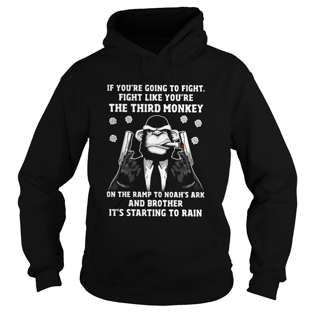 If Youre Going To Fight Like Youre The Third Monkey On Noahs Ark Hoodie