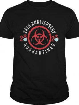24th anniversary 2020 mask quarantined shirt