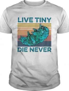 Animal live tiny die never vintage shirt