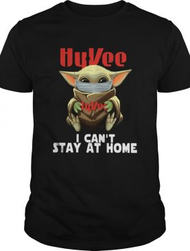Baby Yoda Face Mask Hy Vee Cant Stay At Home shirt