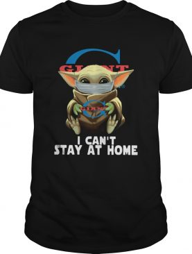 Baby Yoda Face Mask Old Giant Food Cant Stay At Home shirt