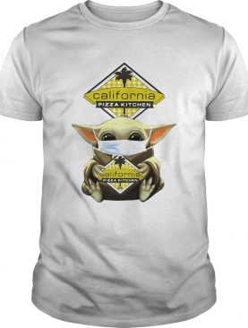 Baby Yoda hug California Pizza Kitchen shirt