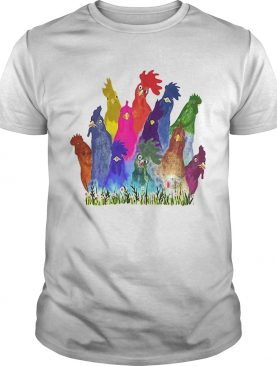 Chickens Watercolor shirt