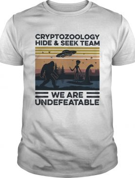 Cryptozoology hide and seek team we are undefeatable vintage shirt