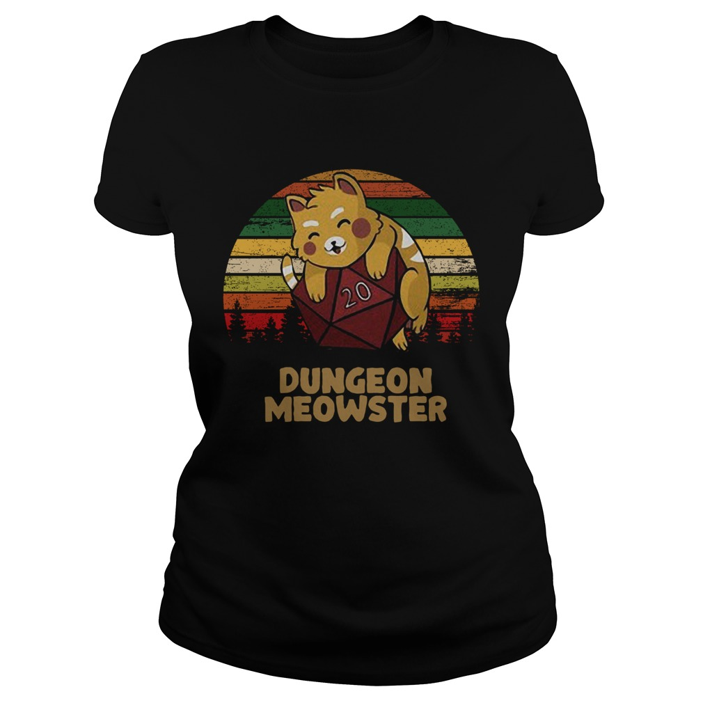 Dungeon Meowster Dnd Tabletop Gamer Cat  Classic Ladies