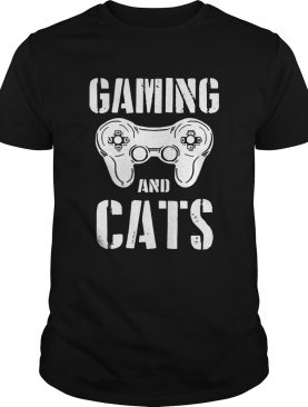 Gaming And Cats Game Control Vintage Video Game Player shirt