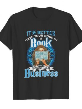 It's better have your nose in a book than in someone else's business light shirt