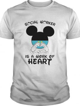 Mickey Mouse Social Worker Is A Work Of Heart COVID19 shirt
