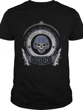 Skull veteran come on you apes you wanna live forever roughnecks shirt