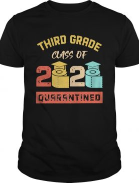 Third Grade Class Of 2020 Toilet Paper Quarantined Vintage shirt