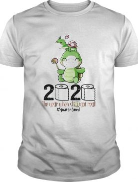 Turtle mom 2020 the year when shit got real quarantined toilet paper covid19 shirt