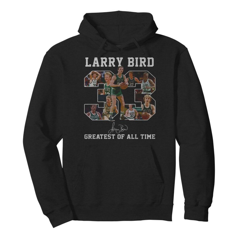 33 Larry Bird Greatest of all time signature  Unisex Hoodie