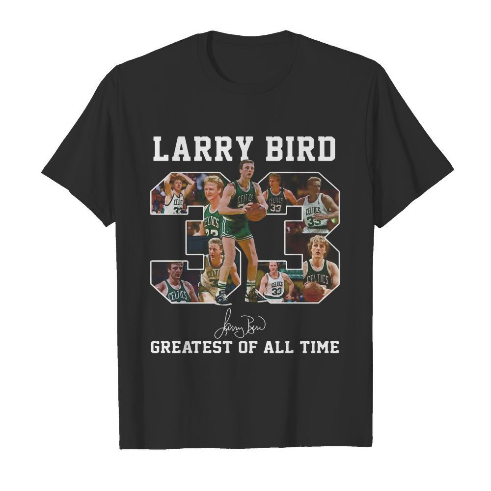 33 Larry Bird Greatest of all time signature  Classic Men's T-shirt