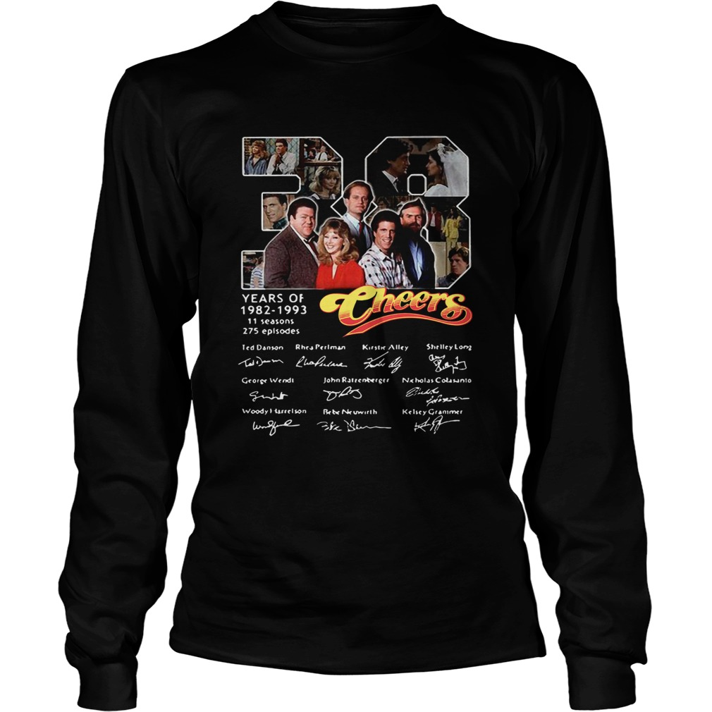 38 Years Of 1982 1993 Cheers Signatures  Long Sleeve