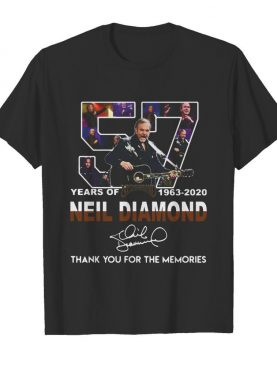 57 Years Of Neil Diamond 1963-2020 Signature Thank You For The Memories shirt