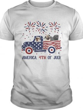 America 4th of July car American flag veteran Independence Day shirt