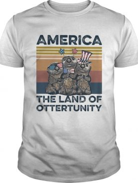 America the land of otterunity independence day vintage shirt