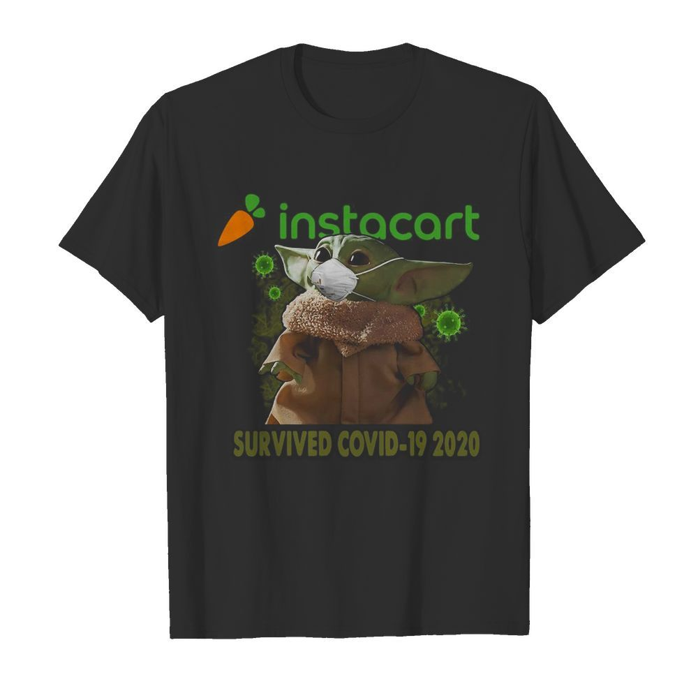 Baby Yoda Mask Instacart Survived Covid 19 2020  Classic Men's T-shirt