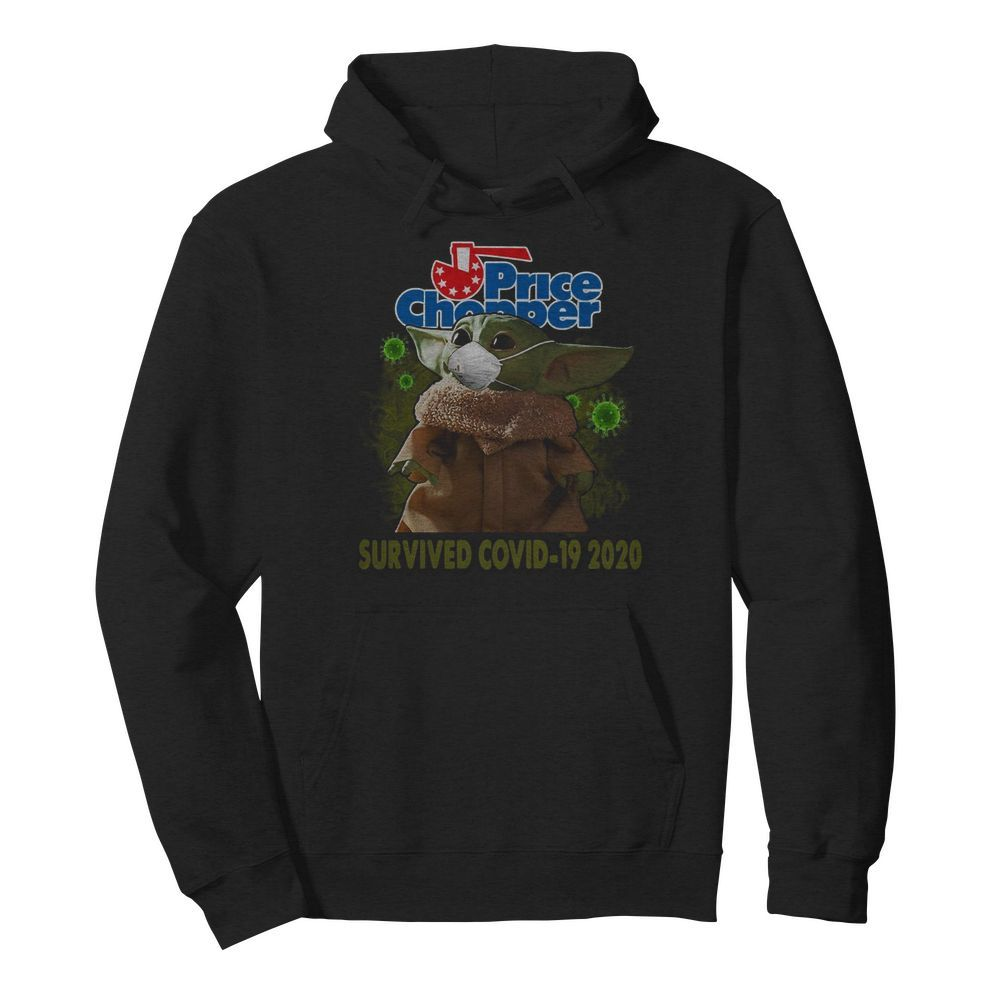 Baby Yoda Mask Price Chopper Survived Covid 19 2020  Unisex Hoodie