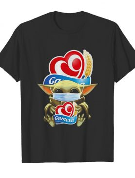 Baby Yoda hug Gamesa mask shirt