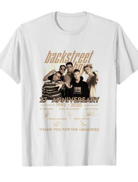 Backstreet Boys 27th Anniversary 1993-2020 Thank You For The Memories Signature shirt