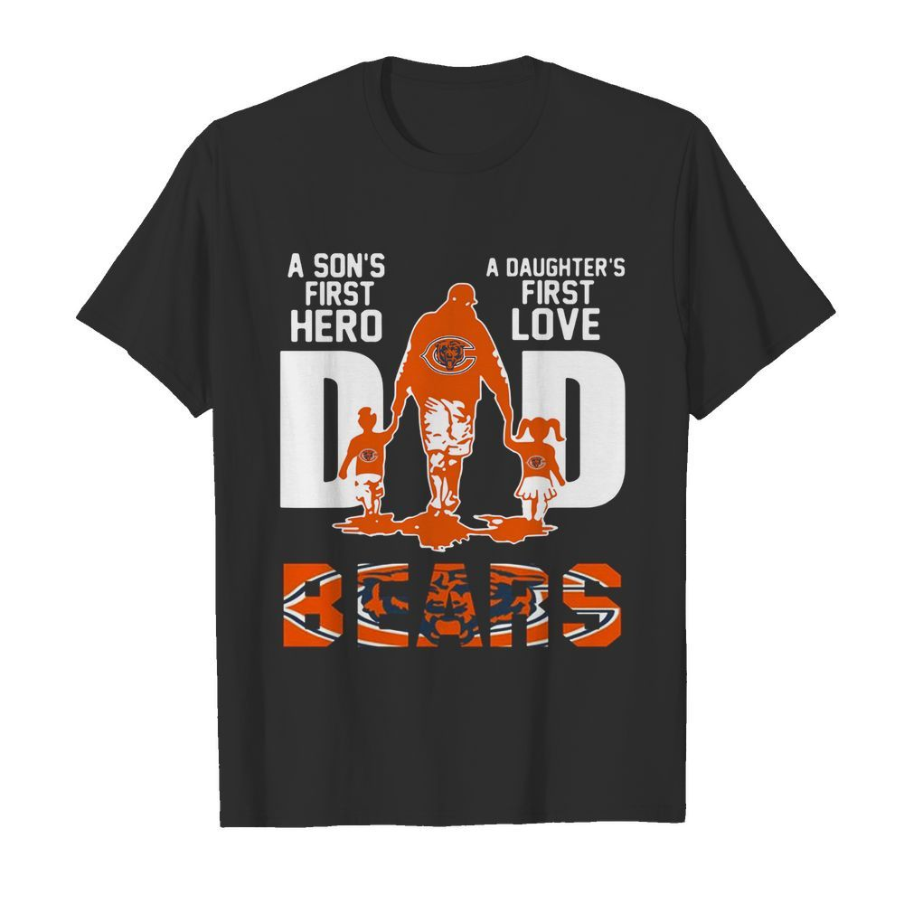 Bears Dad a son's first hero a daughter's first love  Classic Men's T-shirt