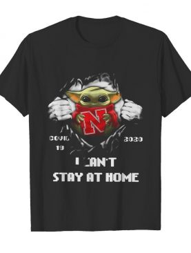 Blood Inside Me Baby Yoda Nebraska Cornhuskers Covid 19 2020 I Can't Stay At Home shirt
