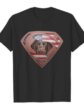 Blood Insides Superman Labrador Retriever American Flag Independence Day shirt