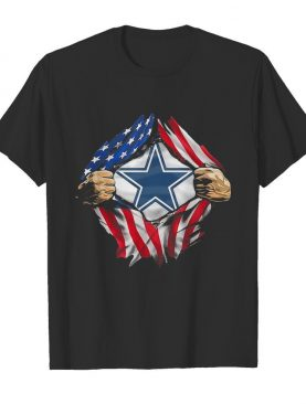 Blood insides dallas cowboys american flag independence day shirt