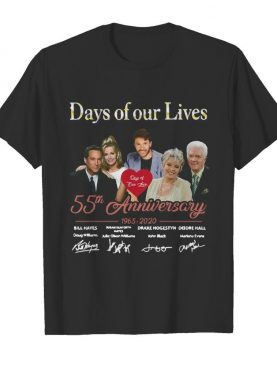 Days of our lives 55th anniversary 1965 2020 signatures shirt