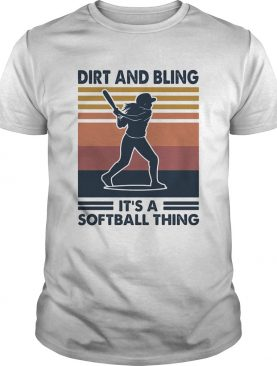 Dirt and bling its a softball thing vintage shirt