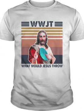 Disc golf wwjt what would jesus throw vintage shirt