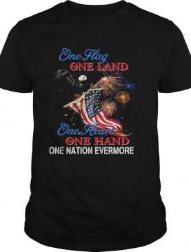 Eagle Once flag one land one heart American flag veteran Independence Day shirt
