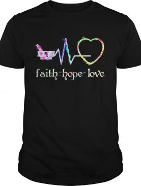 Faith hope love heartbeat shirt