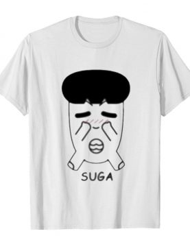 Fanstown bts bangtan boy same cartoon suga shirt