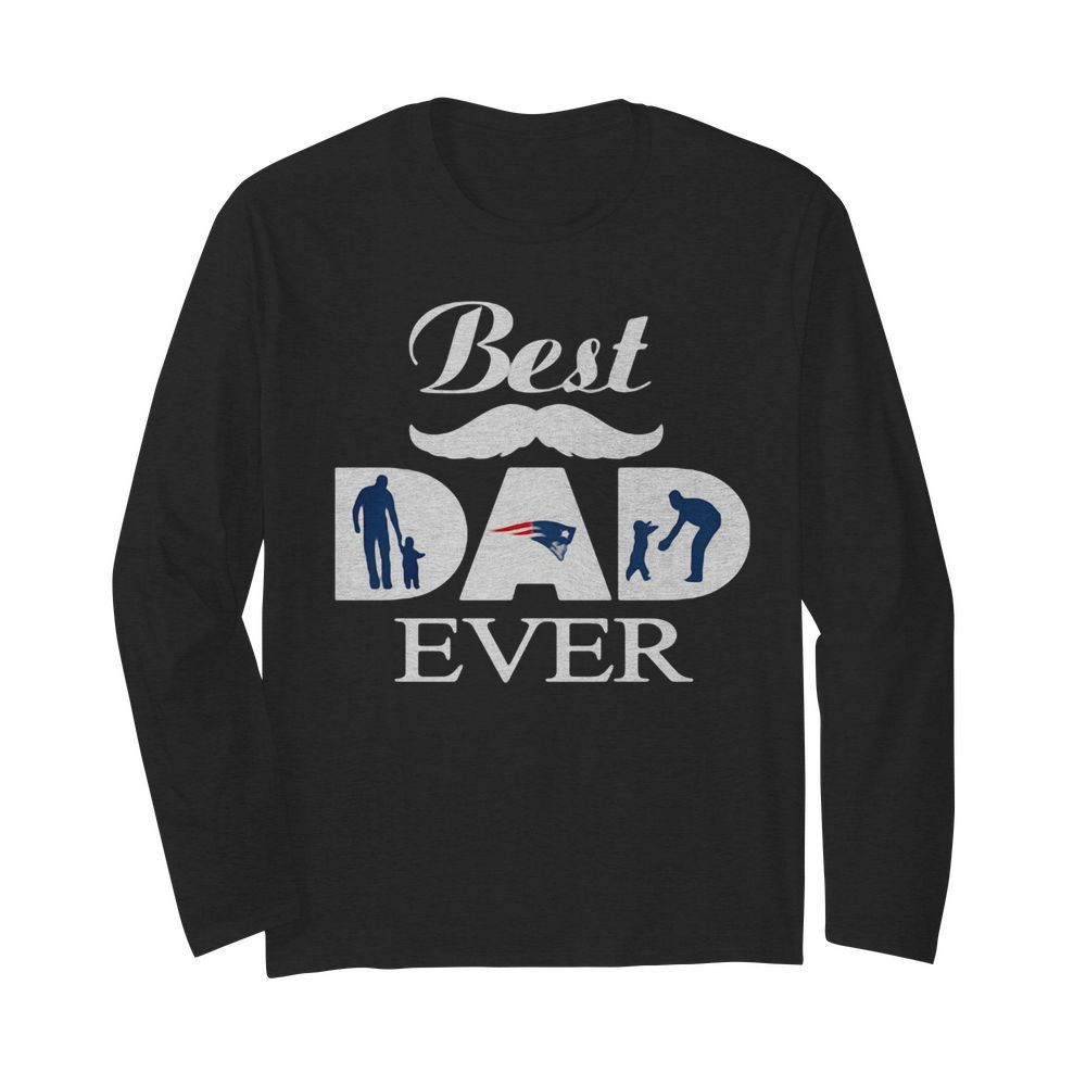 New england patriots best dad ever father's day  Long Sleeved T-shirt