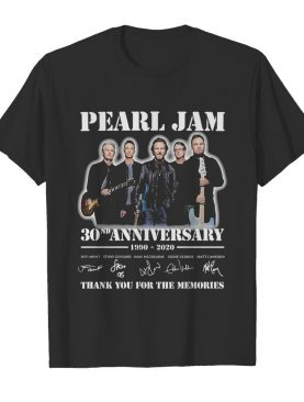 Pearl jam band 30nd anniversary 1990 2020 thank you for the memories signatures shirt