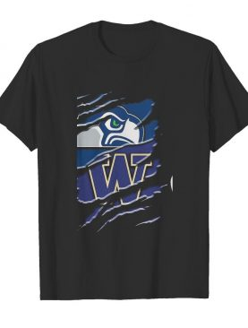 Seattle seahawks and washington huskies football shirt