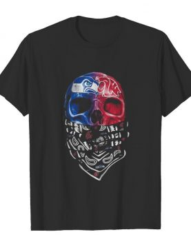 Skull seattle seahawks and washington state cougars heart it's in my dna shirt