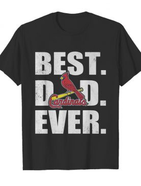 St. Louis cardinals best dad ever happy father's day logo shirt