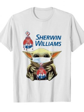 Star wars baby yoda hug sherwin williams covid-19 shirt