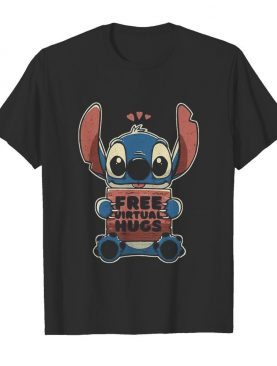 Stitch free virtual hugs heart shirt