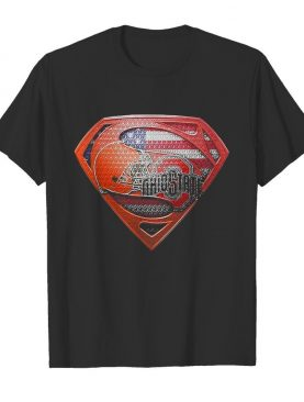 Superman cleveland browns and cleveland indians american flag independence day shirt