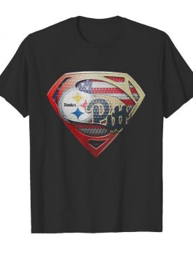 Superman pittsburgh steelers vs pittsburgh penguins american flag independence day shirt