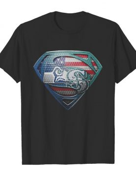 Superman seattle seahawks and seattle mariners american flag independence day shirt