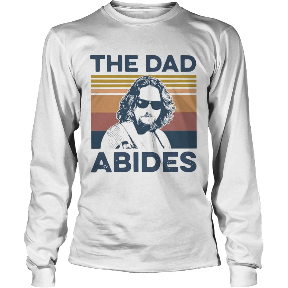 The Big Lebowski The Dad Abides Vintage  Long Sleeve