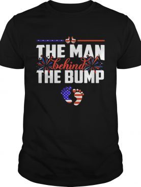 The man behind the bump American flag veteran Independence Day shirt