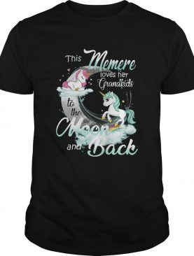 This Memere Loves Her Grandkids To The Moon And Back Unicorn shirt
