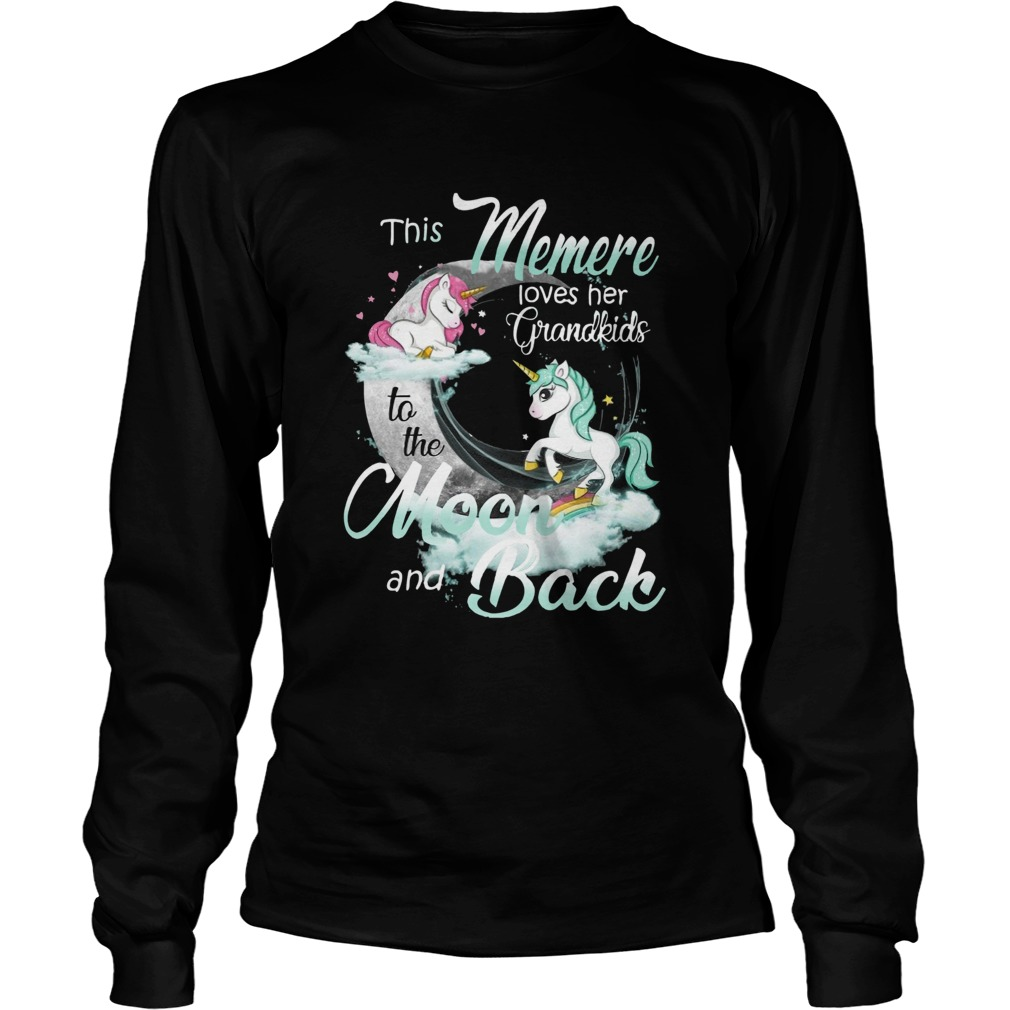This Memere Loves Her Grandkids To The Moon And Back Unicorn  Long Sleeve