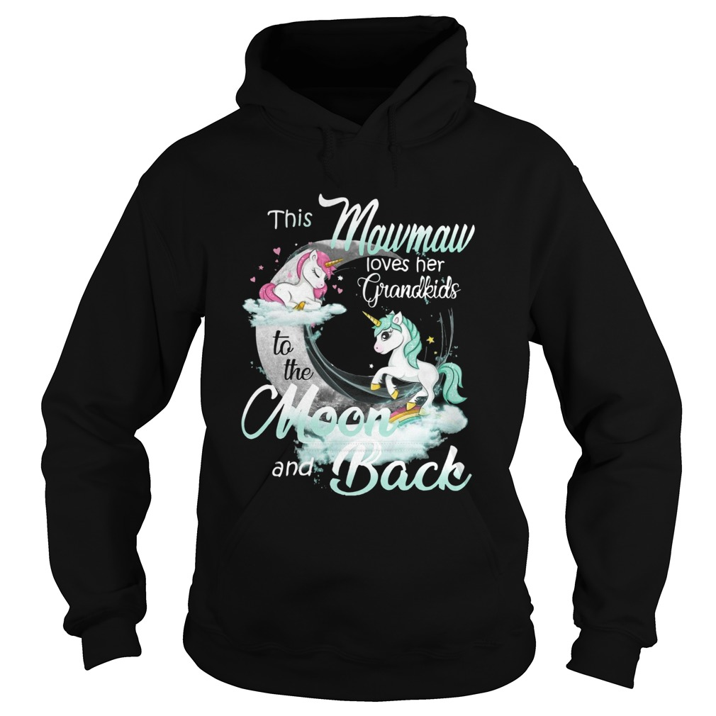 This Mewmaw Loves Her Grandkids To The Moon And Back Unicorn  Hoodie